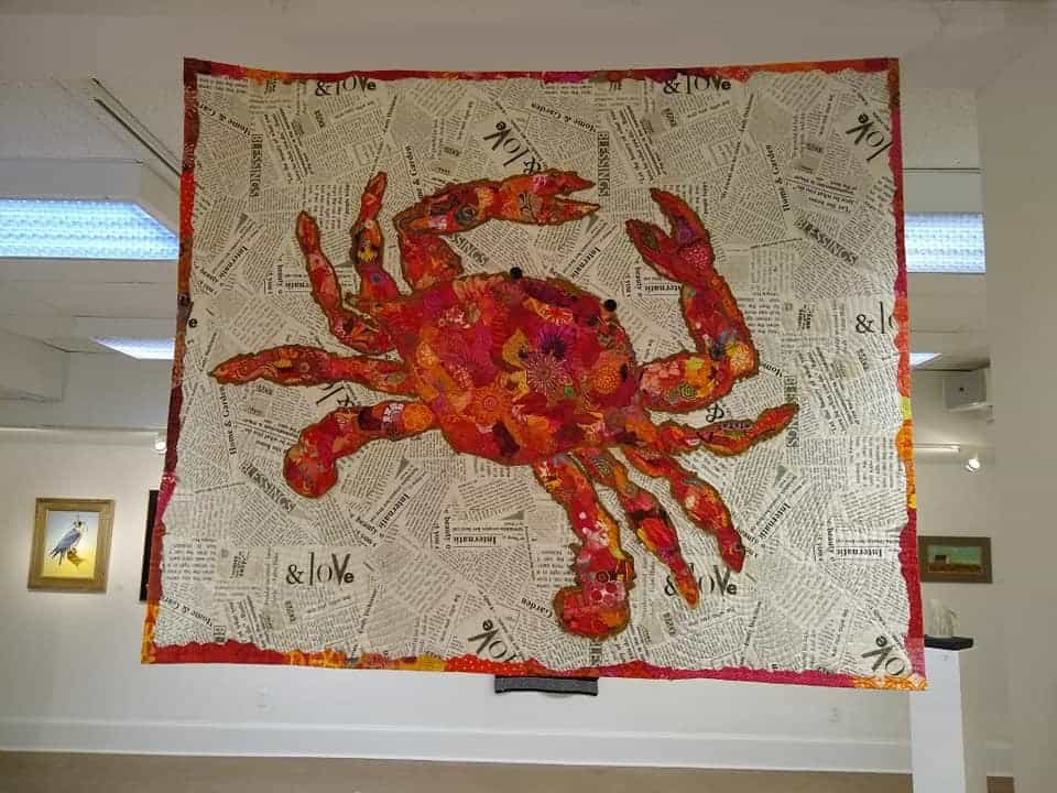 Fabric Quilt by Laura Boell, representing the Fiber Arts Center, Caroline County Arts Council. Photo credit: Kal Dupchen