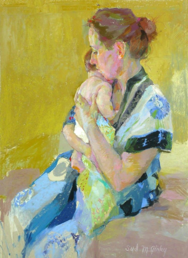 Young Baby and Mother by Sydney McGinley