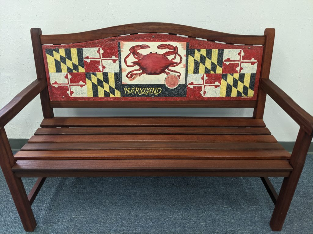 Maryland Painted Bench