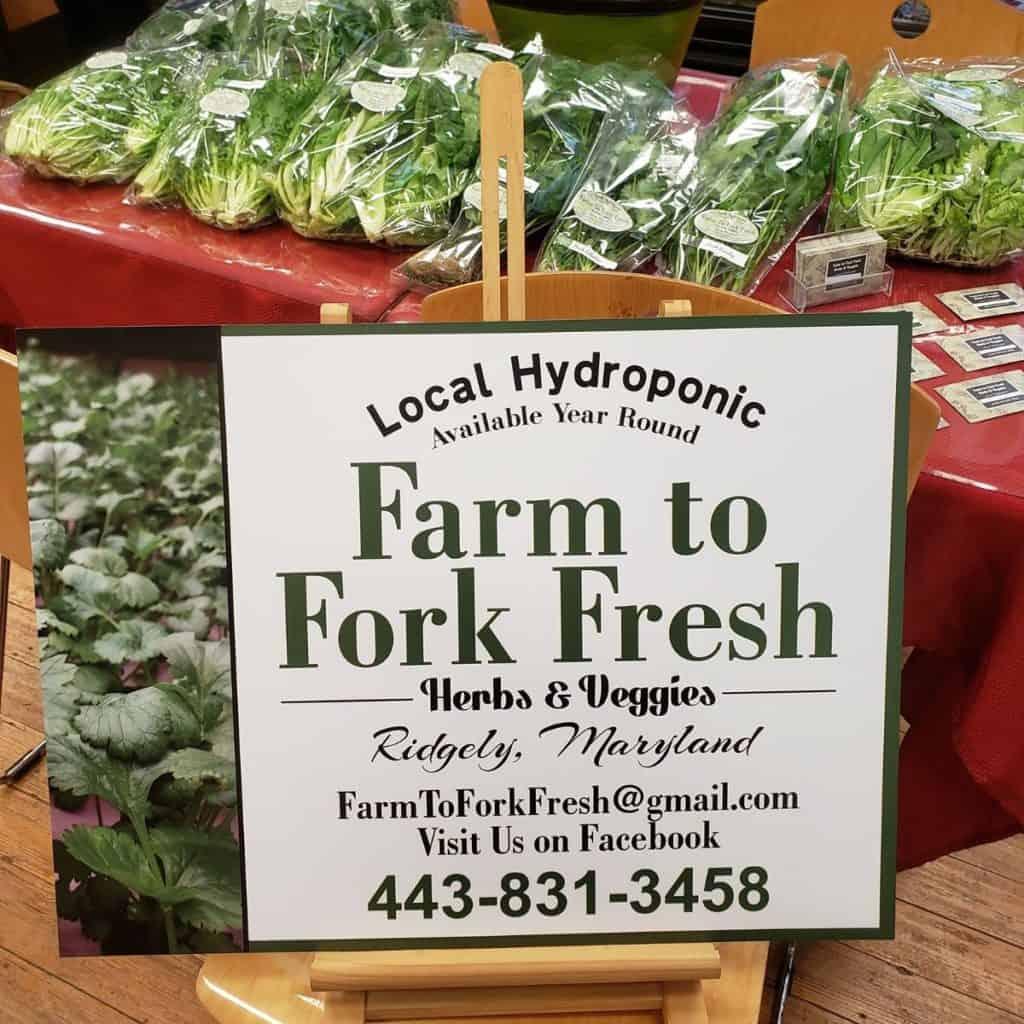 Farm to Fork Fresh vegetables