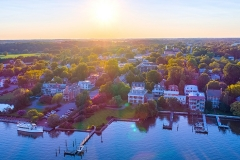 Aerial of Chestertown, MD